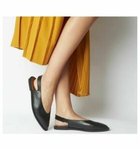 Office Forte Point Slingback BLACK LEATHER