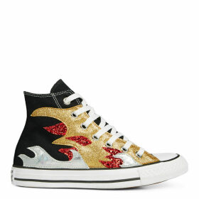 Chuck Taylor All Star Glitter Flame High Top