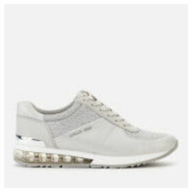 MICHAEL MICHAEL KORS Women's Allie Extreme Leather/Mesh Runner Style Trainers - Milk - UK 6/US 9 - Grey