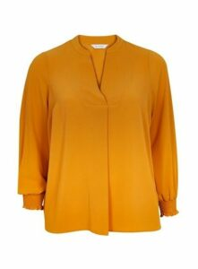 Ochre Notch Neck Shirt, Mustard