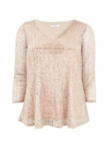 Blush Sparkle Top, Pale Pink