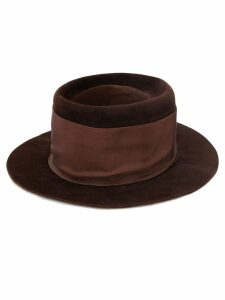 Valentino Pre-Owned felted fedora hat - Brown