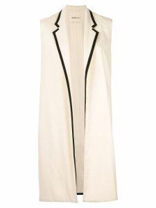 Hermès Pre-Owned cashmere sleeveless midi jacket - White