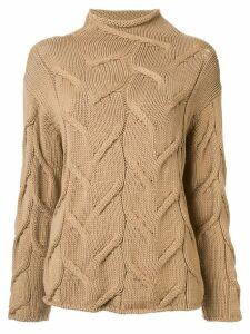 Chanel Pre-Owned textured woven jumper - Brown