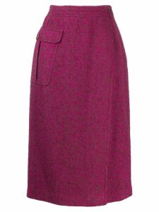Valentino Pre-Owned 1980's fold over skirt - PINK
