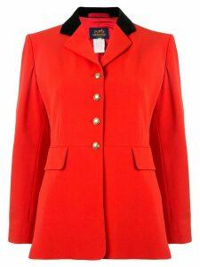 Hermès Pre-Owned Long Sleeve Coat Jacket - Red