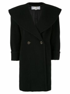 Yves Saint Laurent Pre-Owned exaggerated lapel double-breasted coat -