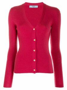Prada Pre-Owned 1990's cashmere V-neck cardigan - PINK