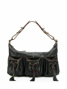 Givenchy Pre-Owned drawstring stitching details shoulder bag - Black