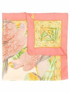 Salvatore Ferragamo Pre-Owned parrot print scarf - Neutrals