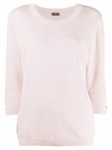 Chanel Pre-Owned three-quarters sleeve textured jumper - PINK