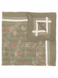 Emanuel Ungaro Pre-Owned 1970's floral scarf - Green