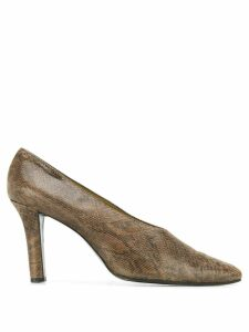 Yves Saint Laurent Pre-Owned 2000 snakeskin-effect pumps - Brown