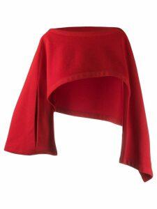 Yohji Yamamoto Pre-Owned 1990's asymmetric cropped top - Red