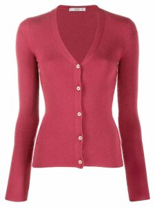 Prada Pre-Owned 1990's V-neck fitted cardigan - Pink