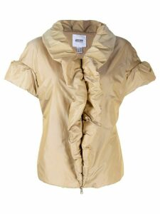 Moschino Pre-Owned 1990's draped padded shortsleved jacket - NEUTRALS