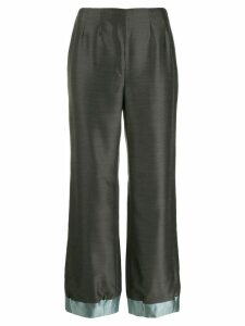 Giorgio Armani Pre-Owned 1990's loose bootcut trousers - Grey