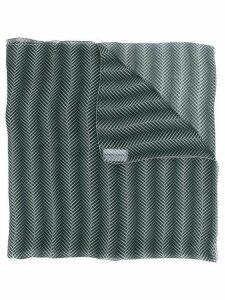 Giorgio Armani Pre-Owned 1990's leaf print scarf - Green
