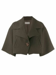 Issey Miyake Pre-Owned loose cropped jacket - Green