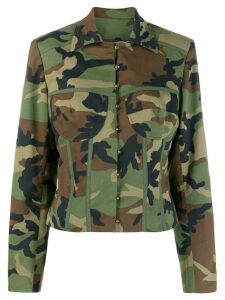 Christian Dior pre-owned camouflage pattern jacket - Green