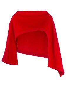 Yohji Yamamoto Pre-Owned cropped asymmetric slip-on jacket - Red