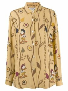 JC de Castelbajac Pre-Owned Daffy Duck printed shirt - NEUTRALS