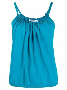 Christian Dior pre-owned gathered neck tank top - Blue