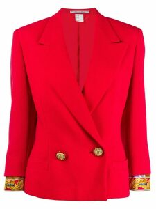 Versace Pre-Owned Barocco cuffs double-breasted jacket - Red