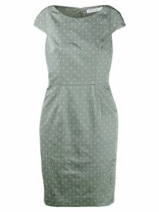 Christian Dior Pre-Owned polka dots fitted dress - Grey