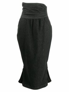 Moschino Pre-Owned 1990's high waist skirt - Black