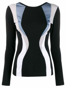 No Ka' Oi long sleeved compression top - Black