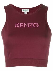 Kenzo cropped logo top - PURPLE