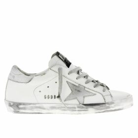 Golden Goose Sneakers Superstar Golden Goose Sneakers In Leather With Laminated Star
