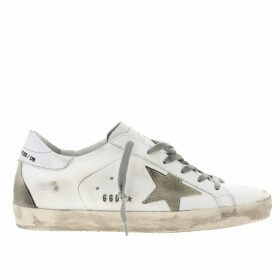 Golden Goose Sneakers Superstar Golden Goose Sneakers In Leather With Suede Star And Laminated Heel