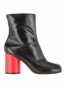 Martin Margiela Tabi Hologram Leather Boots
