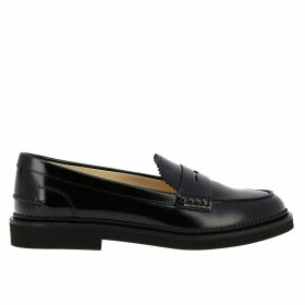 Tods Loafers Tods Loafers In Real Brushed Leather With Classic Crossbar