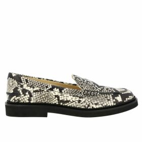 Tods Loafers Tods Loafers In Python-print Leather With Crossbar And Rubber Sole