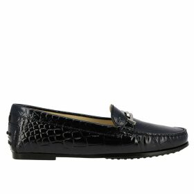 Tods Loafers City Double T Tods Loafers In Crocodile Print Leather