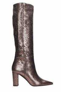 Marc Ellis High Heels Boots In Bronze Leather