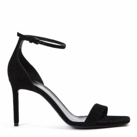 Saint Laurent Black Suede Amber Sandals