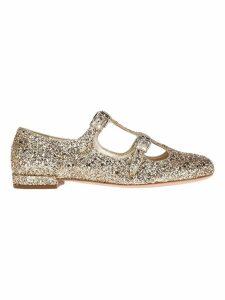Miu Miu Glitter Ballerinas