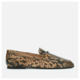 Tod's Women's Python Print T Logo Loafers - Clay