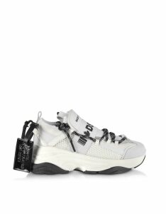 D-bumpy Neoprene And Leather Womens Sneakers