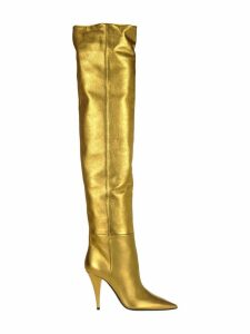 Saint Laurent Metallic Leather Kiki Boots