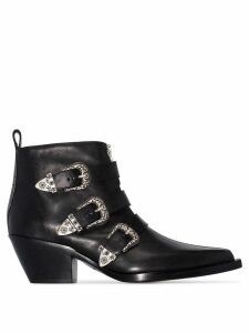R13 buckle-detail ankle boots - Black