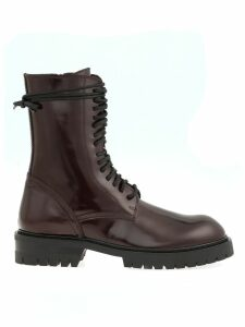 Ann Demeulemeester Leather Army Boot