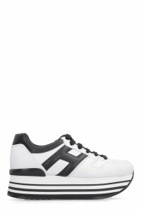 Hogan Leather Platform Sneakers