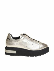 Manuel Barcelo sneakers In Leather Color Gold
