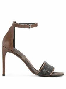 Brunello Cucinelli ankle strap sandals - Brown