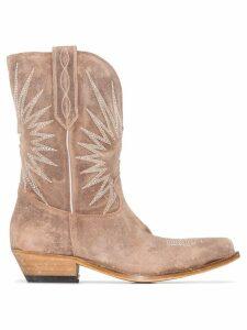Golden Goose Wish Star cowboy boots - Neutrals